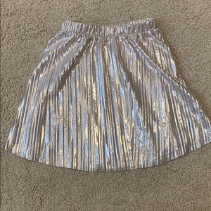 Crewcuts shimmery party skirt in rose gold